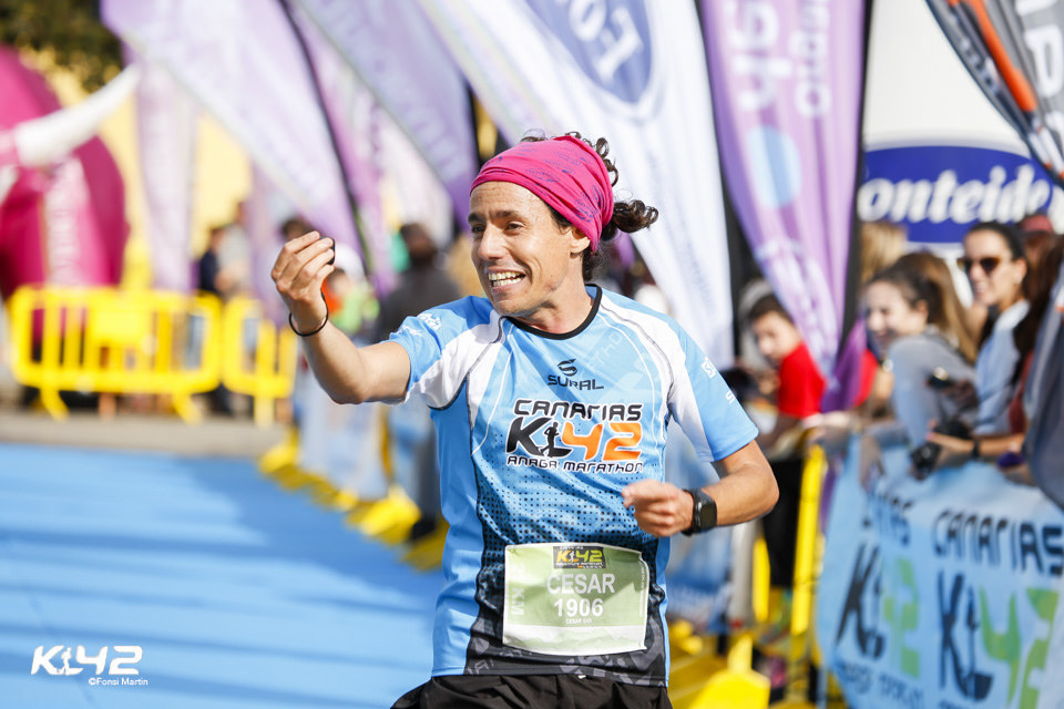 Entrada a meta K42 Anaga Marathon